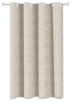 Ύφασμα κουρτίνας Linen Look Natural φάρδος 295 cm.