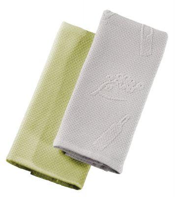 Πετσέτες κουζίνας Split Silver-Olive σετ 2 τεμαχίων