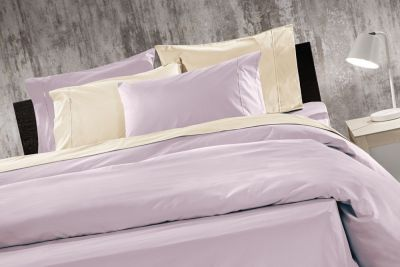 Σετ Σεντόνια 3τμχ Prime Ivory-Violet 160x260