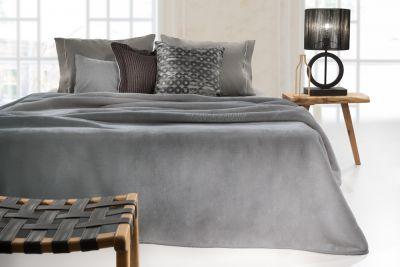 Βελουτέ Κουβέρτα  Smooth Grey 160x220