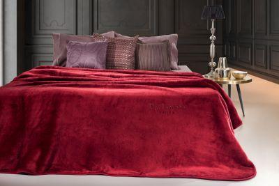 Βελουτέ Κουβέρτα  Smooth Burgundy 220x240