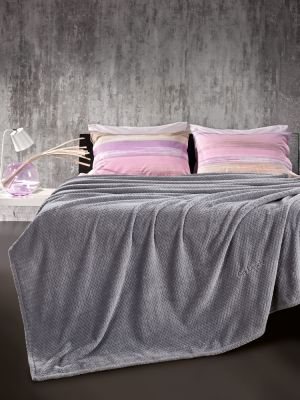 Κουβέρτα Rombus Silver 160x220