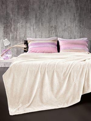 Κουβέρτα Rombus Ecru 160x220