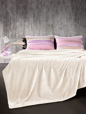 Κουβέρτα Rombus Ecru 220x240