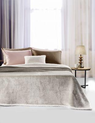 Κουβέρτα Serpa Camel 160x220