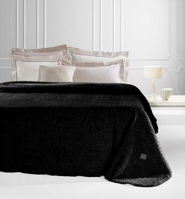 Γούνινη κουβέρτα Nordic Black 220x240