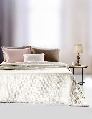 Κουβέρτα 2 όψεων Serpa Ecru 220x240