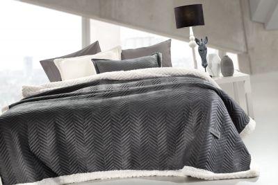 Κουβέρτα Velluto Anthracite 220x240