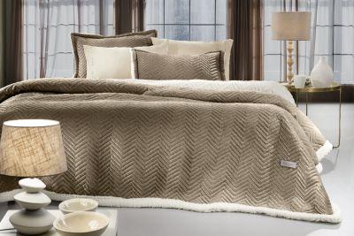 Κουβέρτα Velluto Camel 220x240