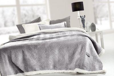 Κουβέρτα Velluto Silver 220x240