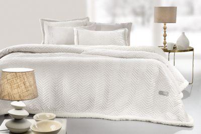 Κουβέρτα Velluto Ivory 220x240