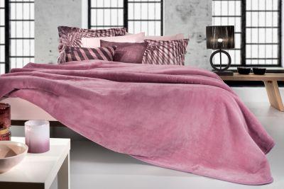 Βελουτέ Κουβέρτα  Smooth Opal Rose 160x220