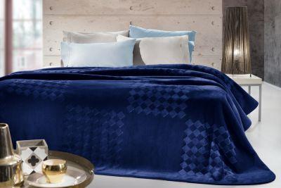 Βελουτέ Κουβέρτα  Grand Navy Blue 220x240