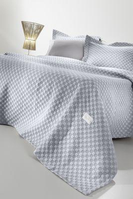 Κουβέρτα Squares Denim 160x260