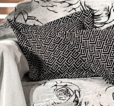 Μαξιλάρι Φιγούρας Garden Silver 50x50