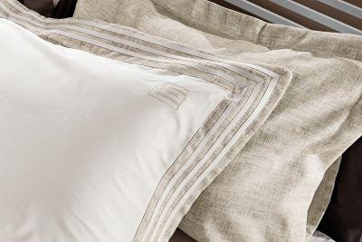 Μαξιλαροθήκες Oxford Linen Natural 50x70(ζεύγος)