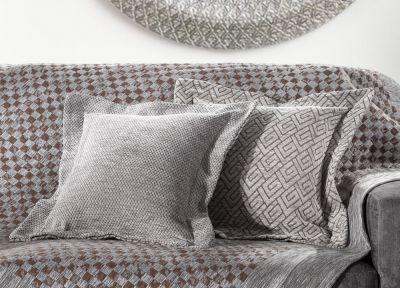 Θήκη Μαξιλάριου Φιγούρας Piquet Pouat Grey 50x50