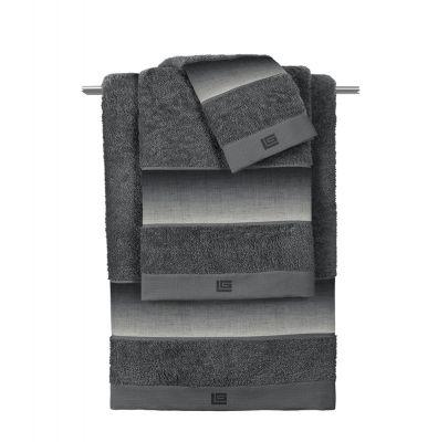 Πετσέτες Mykonos Anthracite  Σετ 3 τμχ (30x50-50x90-70x140)