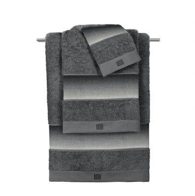 Πετσέτα Προσώπου (50x90)  Mykonos Anthracite
