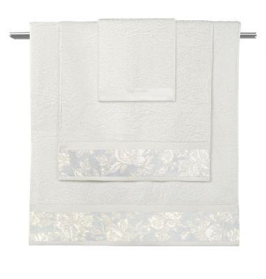 Πετσέτες Sylvie Ivory-Pastel Blue  Σετ 3 τμχ (30x50-50x90-70x140)