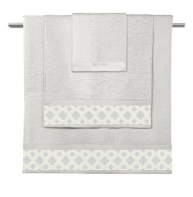 Πετσέτες Sylvie Natural-Pastel Blue  Σετ 3 τμχ (30x50-50x90-70x140)