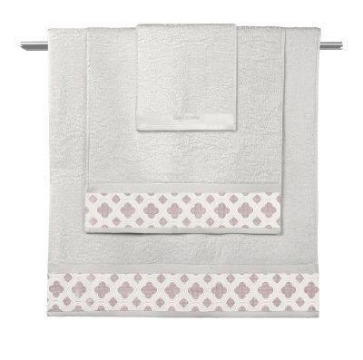 Πετσέτες Sylvie Natural-Old Pink  Σετ 3 τμχ (30x50-50x90-70x140)