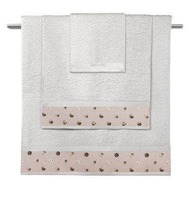 Πετσέτες Oriana Natural-Old Pink  Σετ 3 τμχ (30x50-50x90-70x140)