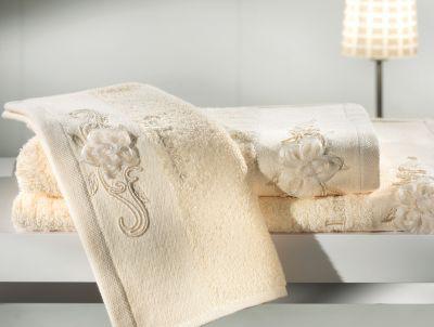 Πετσέτες Phedra Ivory 30x50-50x90-70x140 Σετ 3 τεμαχίων