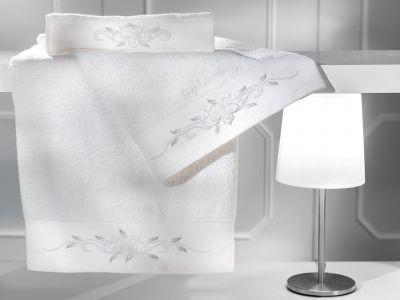 Πετσέτες Phedra White 30x50-50x90-70x140 Σετ 3 τεμαχίων