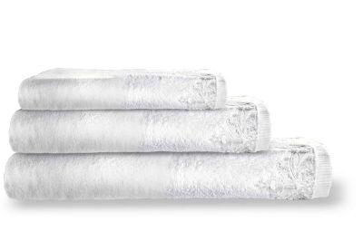 Πετσέτες Palace White 30x50-50x100-70x140 Σετ 3 τεμαχίων