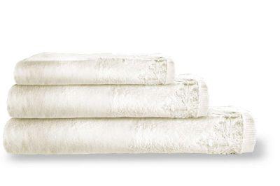Πετσέτες Palace Ivory 30x50-50x100-70x140 Σετ 3 τεμαχίων