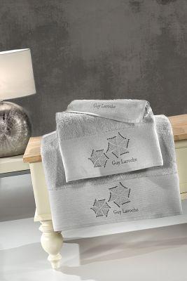 Πετσέτες Wind Silver 30x50-50x90-70x140 Σετ 3 τεμαχίων