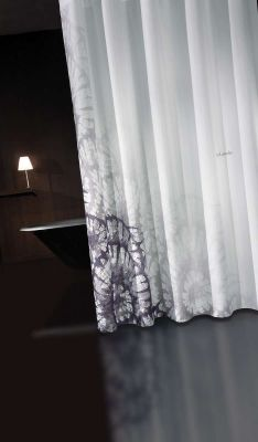 Κουρτίνα Μπάνιου Theatro Grey-Black 240x185
