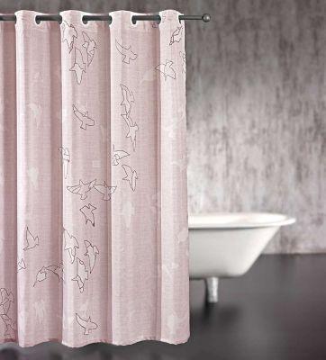 Κουρτίνα μπάνιου Freedom Old Pink 180x185