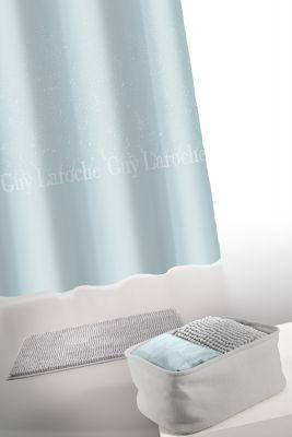 Κουρτίνα Μπάνιου + Πατάκι (Σετ) Guy Laroche Glossy Silver