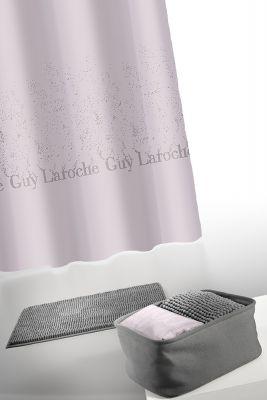 Κουρτίνα Μπάνιου + Πατάκι (Σετ) Guy Laroche Glossy Anthracite