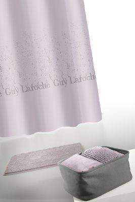Κουρτίνα Μπάνιου + Πατάκι (Σετ) Guy Laroche Glossy Amethyst