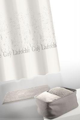 Κουρτίνα Μπάνιου + Πατάκι (Σετ) Guy Laroche Glossy Ammos