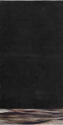 Πετσέτα Θαλάσσης-Ξαπλώστρας Velour-Jacquard 2 Black 75x165