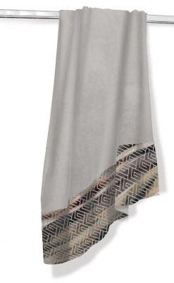 Πετσέτα Θαλάσσης-Ξαπλώστρας Velour-Jacquard 2 Silver 75x165