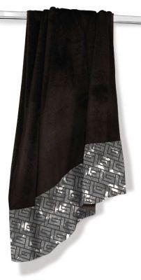 Πετσέτα Θαλάσσης-Ξαπλώστρας Velour-Jacquard 5 Black 75x175