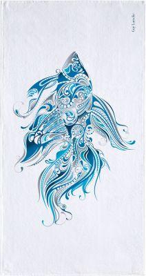 ΠΕΤΣΕΤΑ ΘΑΛΑΣΣΗΣ VELOUR PRINTED 1801 BLUE 90X180