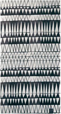 Πετσέτα θαλάσσης Velour 1912 Black and White 90Χ180