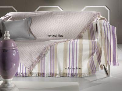 Ριχτάρι 2θέσιου Καναπέ Vertical Lilac 170x250