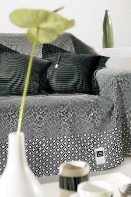 Ριχτάρι πολυθρόνας BLOCK BLACK-WHITE 150x180