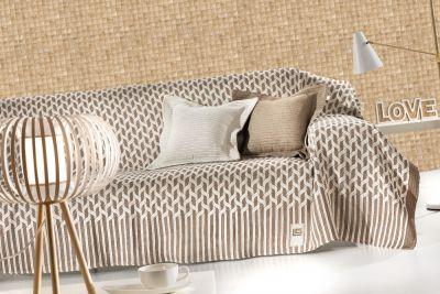 Ριχτάρι διθέσιου καναπέ KYLIM MOCCA 250x180