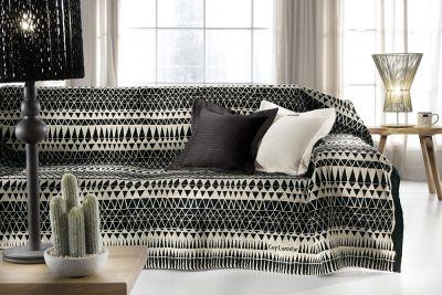 Ριχτάρι τριθέσιου καναπέ PERUVIAN BLACK 300x180