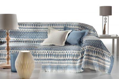 Ριχτάρι τριθέσιου καναπέ PERUVIAN SKY 300x180