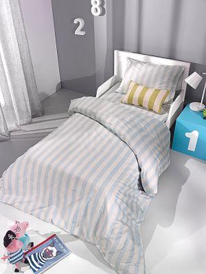 Παπλωματοθήκη Blue Stripes 160x220