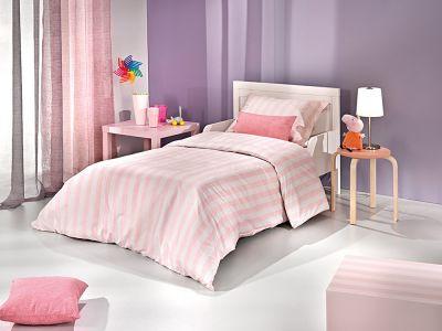 Παπλωματοθήκη Pink Stripes 160x220